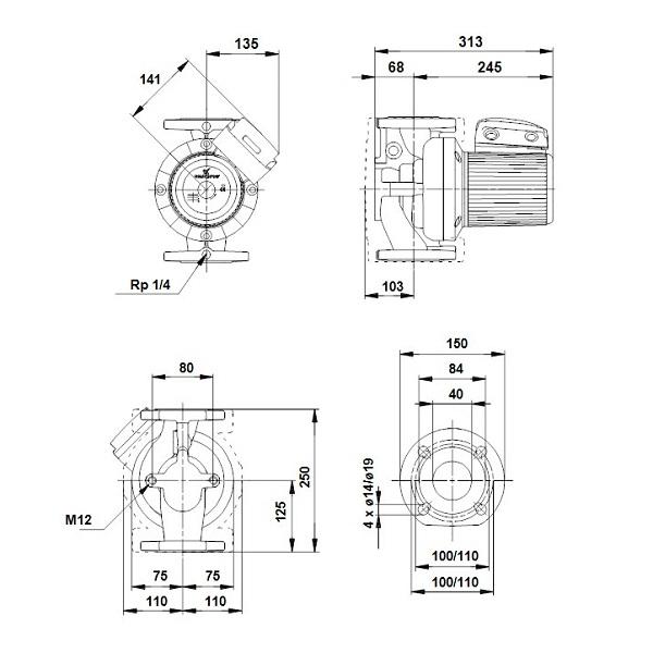 Насос циркуляционный Grundfos UPS 40-120 F 1x230