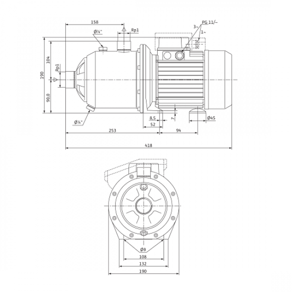 Cамовсасывающий насос Wilo MultiCargo MC 304 (230 В)